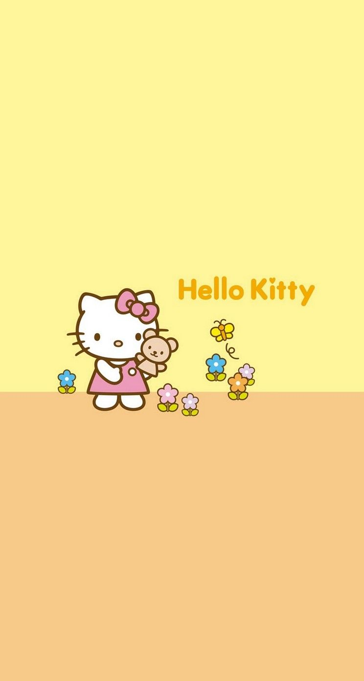 Hello Kitty Cute And Yellow Iphone Wallpapers Mobile9 Hello
