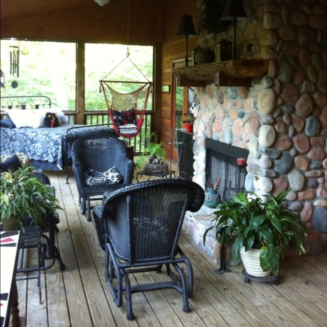 9 Must Have Outdoor Kitchens: An Outdoor Fireplace Is A MUST For A Sleeping Porch
