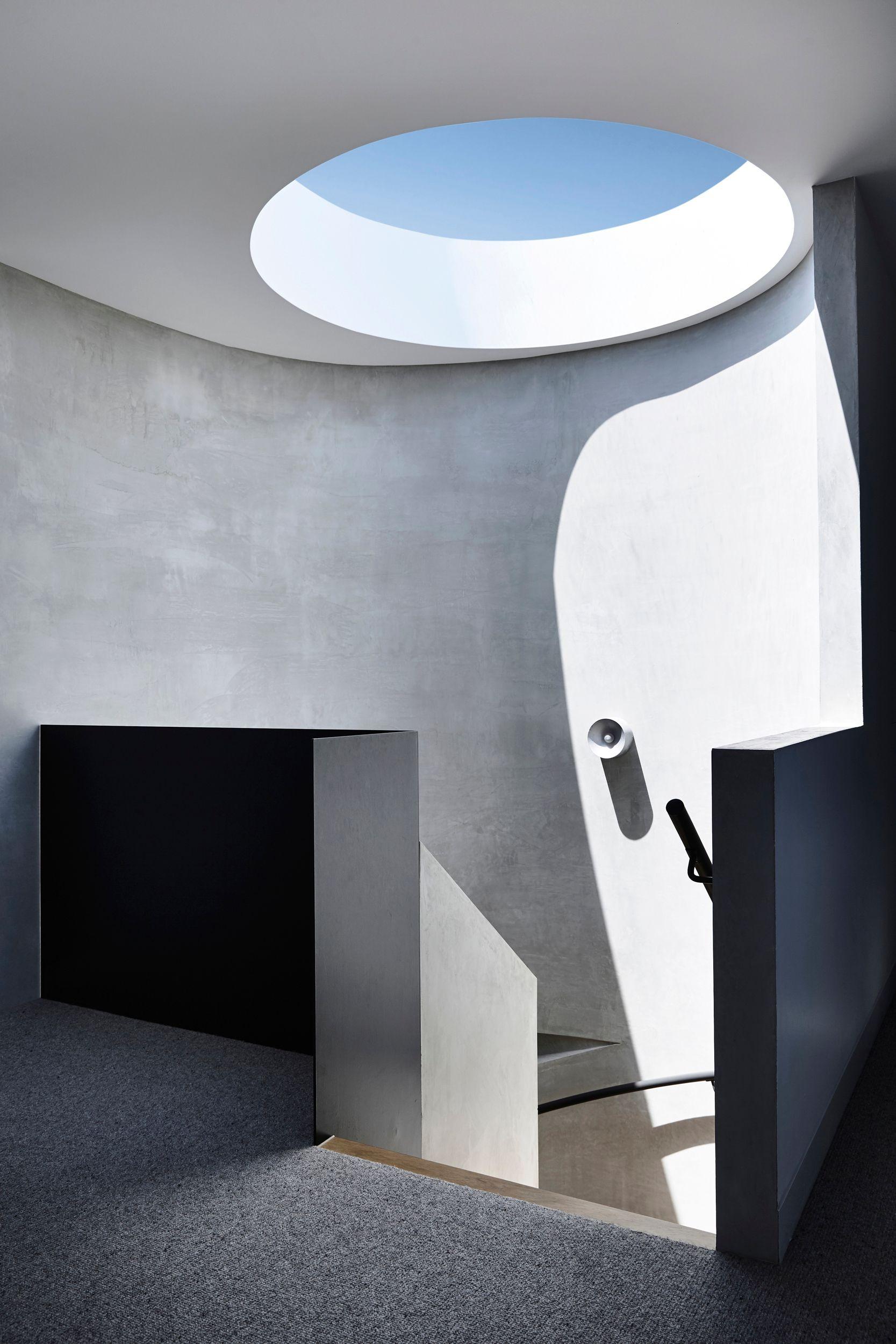 Concrete Rendered Interior Walls In 2020 Interior Architecture Design Interior Architecture Skylight Design
