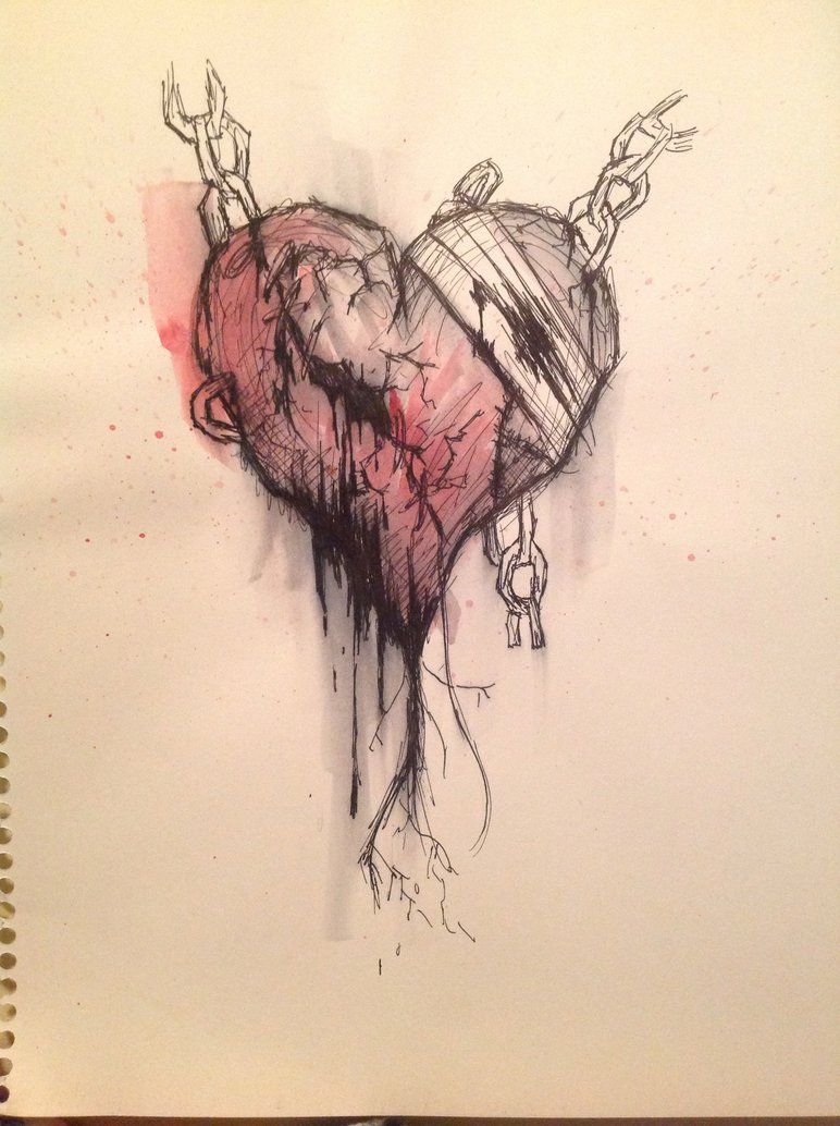 Emo Heart Drawing Breaking Point