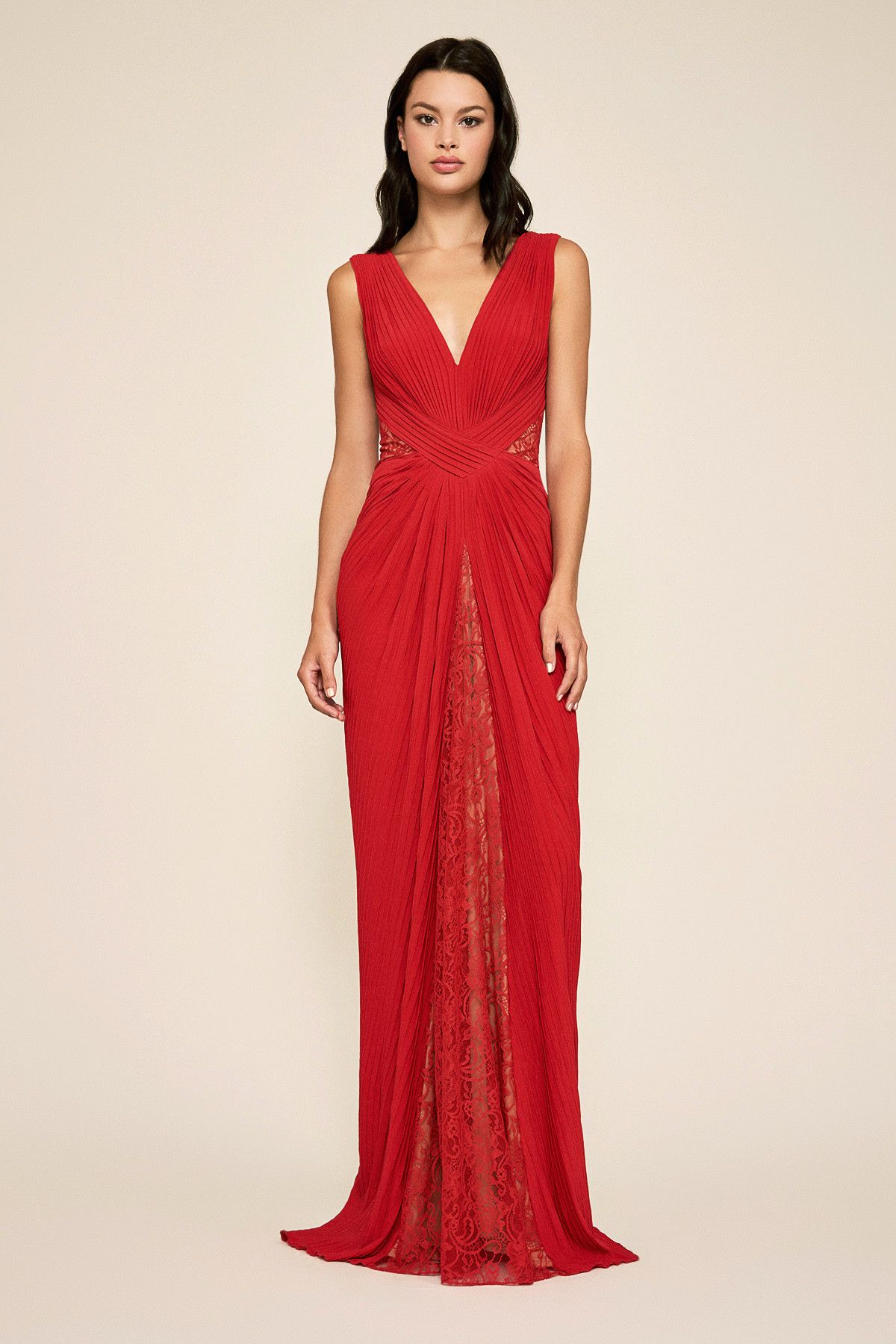 bba736a7a6ceb Rizo Sleeveless Pintuck Gown