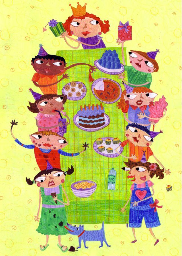 Little Thee Illustration Illustration Friday Children A Sticky - Children's birthday parties west yorkshire