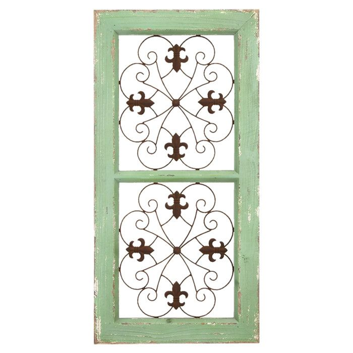 Wood medallion wall decor : Hilaire wall decor a weathered wood with