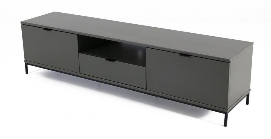 Meuble TV industriel en bois et métal noir Interio | bleu | Pinterest