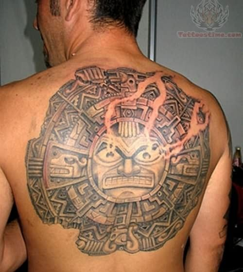 Taino Tattoo For Woman: Aztec Back Mexican Sun Tattoo