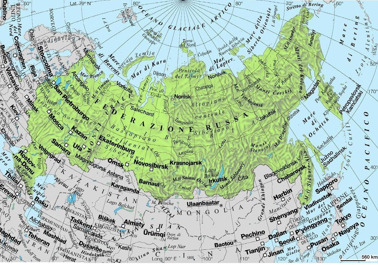 La Cartina Della Russia.Siberia In Russian La Cartina Geografica Della Federazione Russa Russia Geografia Girandole