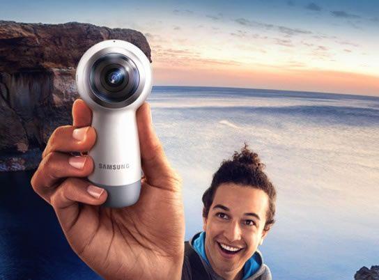 Samsung S New Gear 360 Captures Full 4k Video With Live Broadcasting Becoming The Ultimate Social Camera Sanal Gerceklik Samsung Dunya