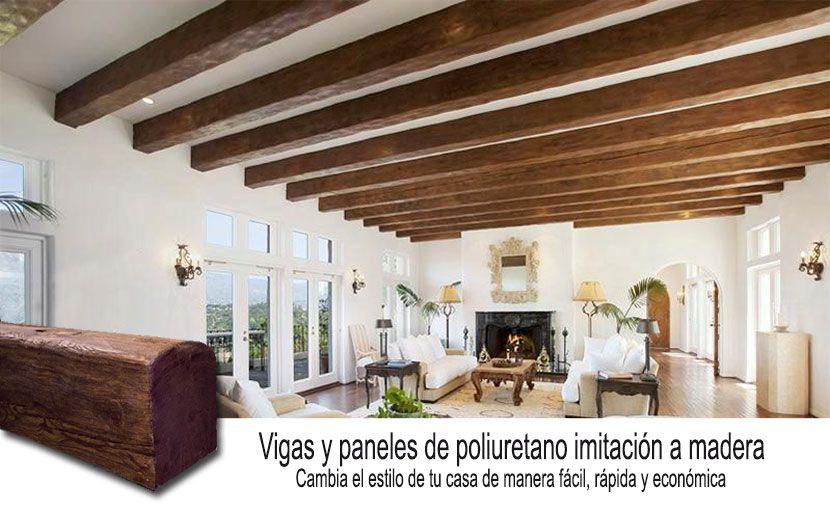 Pin de maribel ruiz en columnas y vigas vigas imitacion - Vigas decorativas ...