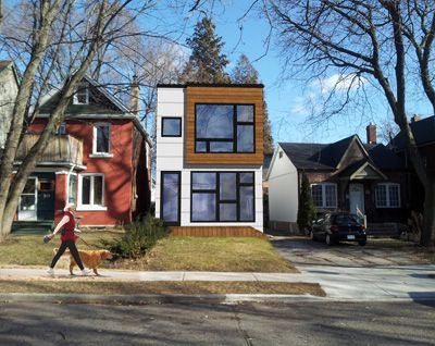 Modern infill toronto hive modular 2 storey design under for Infill home plans