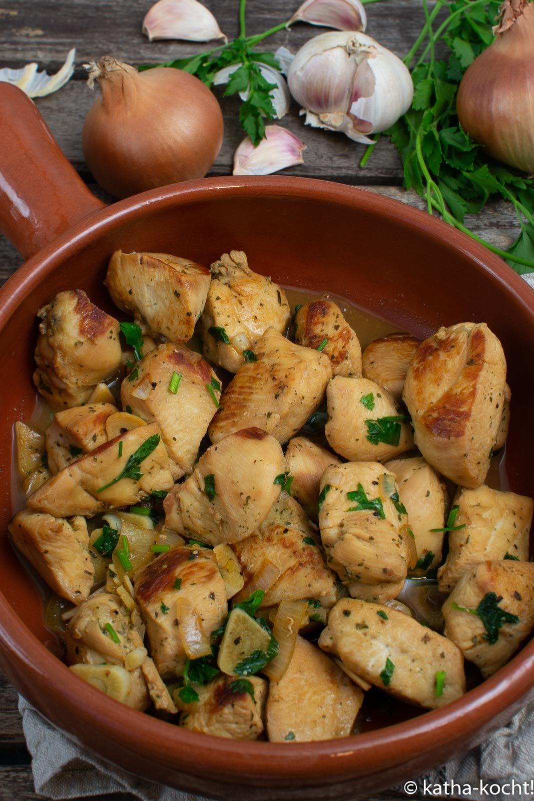 Tapas - Hähnchen in Weißwein-Jus - Katha-kocht!