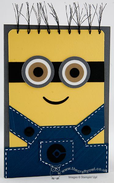 You're One In A Minion! Circle Punches, Punch Art, Stylish Stripes Joanne James, Stampin Up Demonstrator, www.blog.thecraftyowl.co.uk