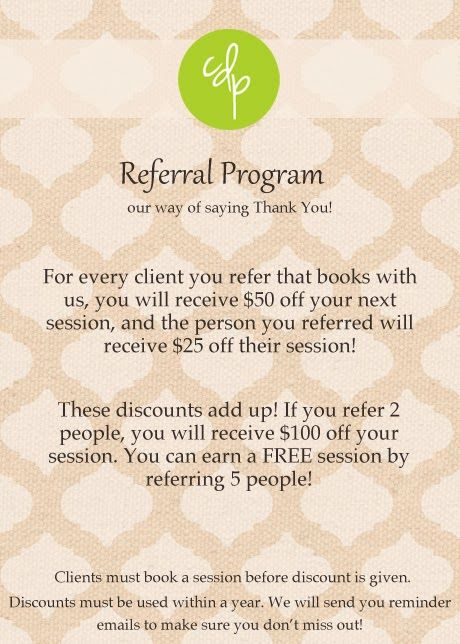 Referral Program CD Test Pinterest Programming, Salons and - business referral agreement