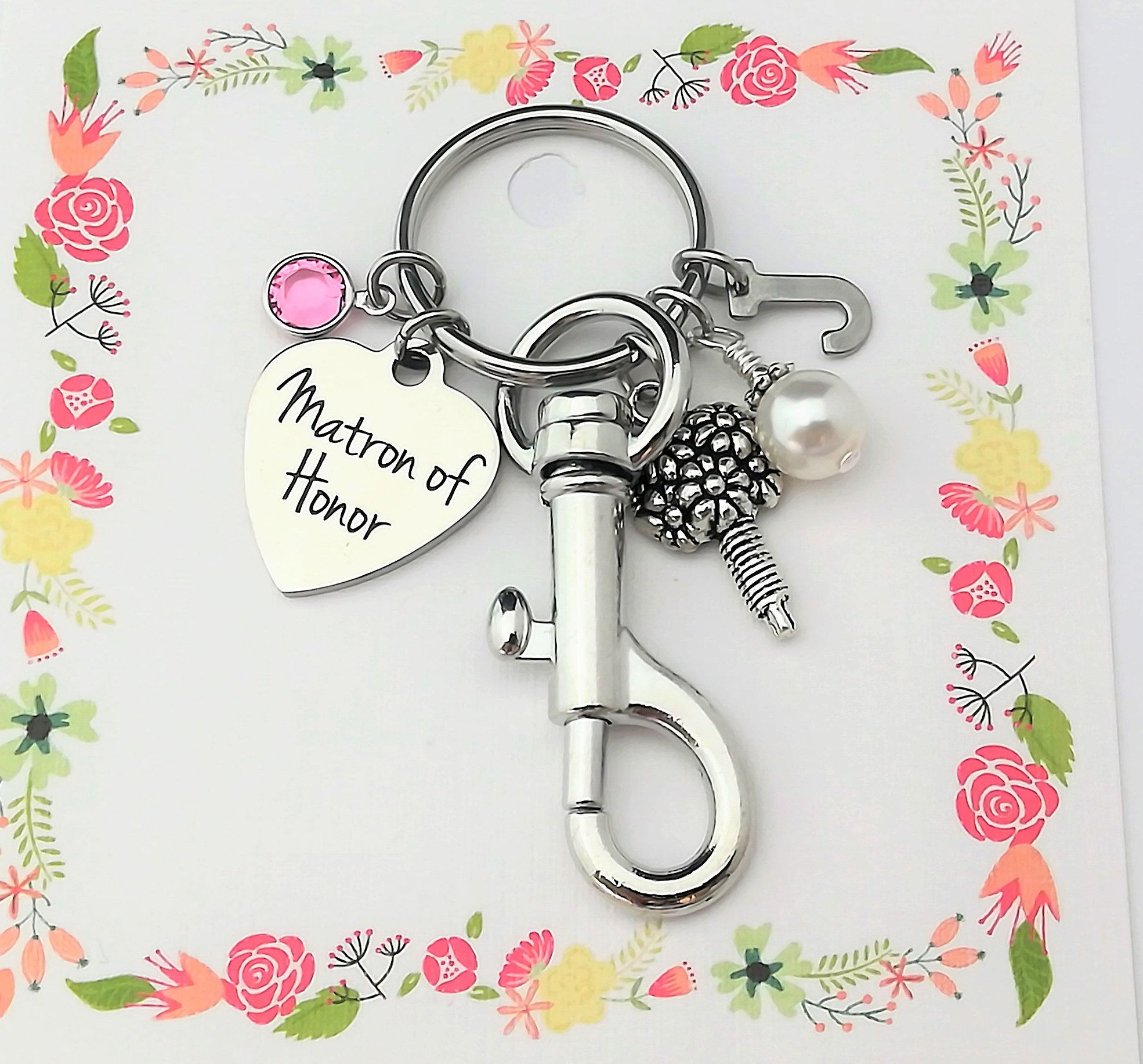 Matron of honor proposal matron of honor key chain will