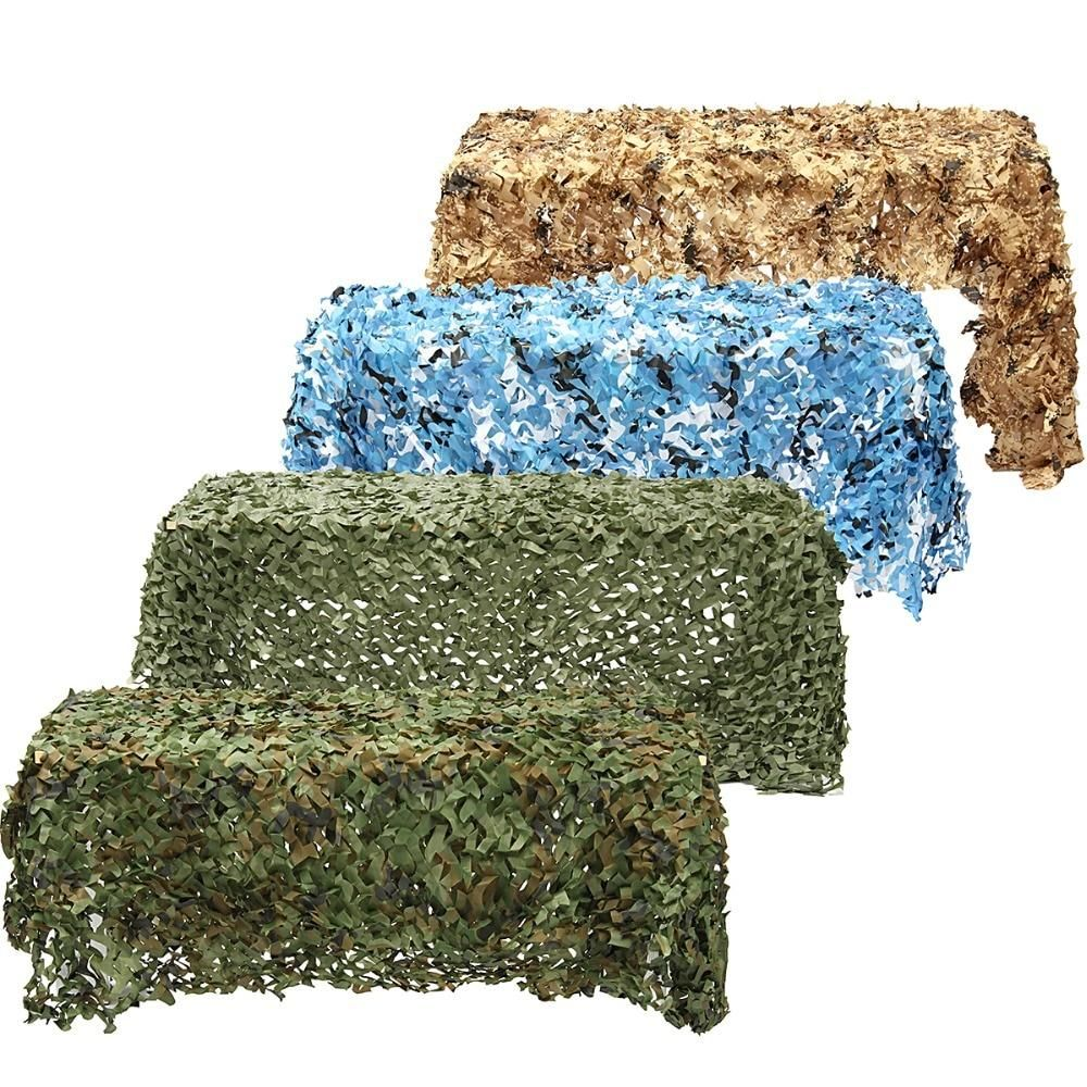 Chasse en Plein air Militaire Camouflage Net Woodland Arm/ée Camo Netting Camping Sun Shelter Tente Shade