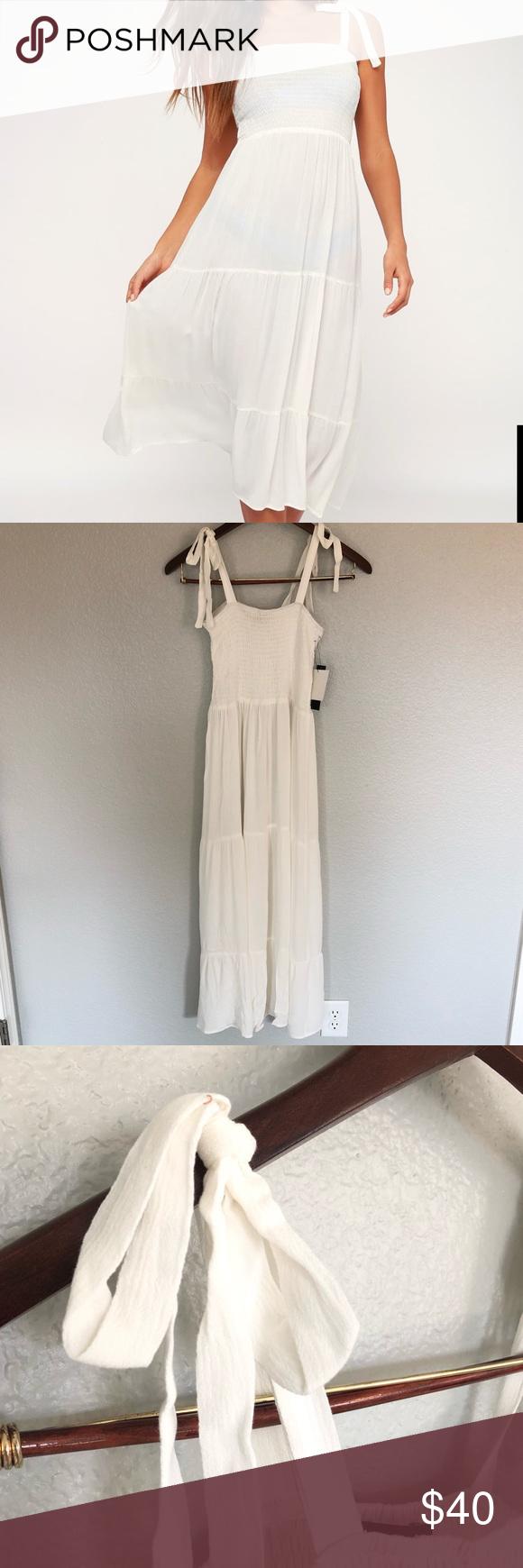 Lulus New Beach Coverup Tie Smocked Midi Dress Clothes Design Lulu Dresses Fashion Design [ 1740 x 580 Pixel ]