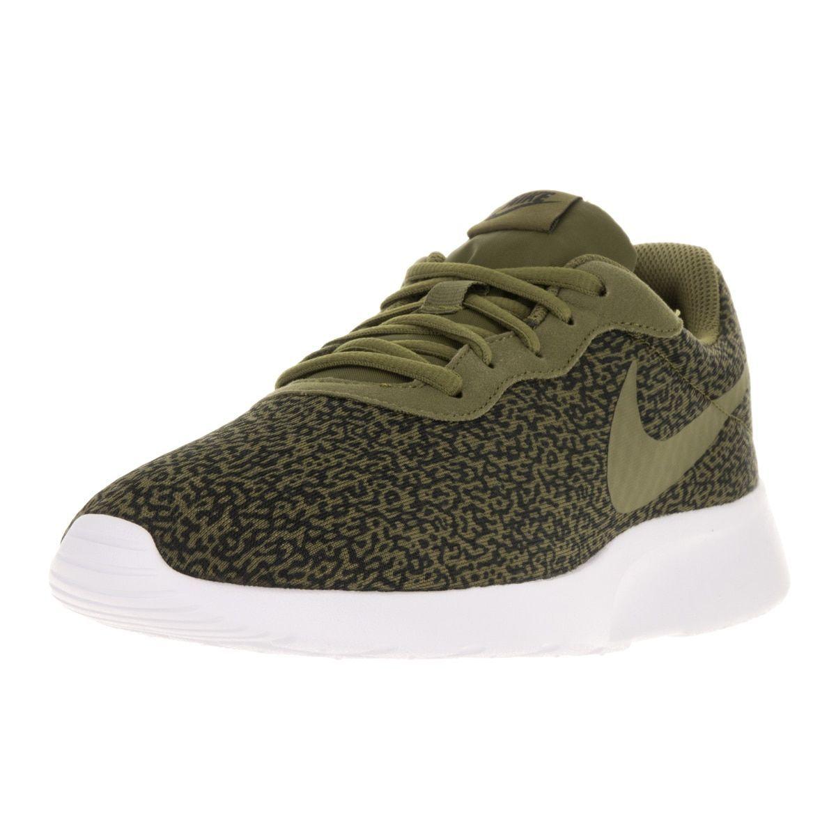 da3d1464f618 where can i buy nike mens tanjun print olive flak olv flak blk white running  shoe