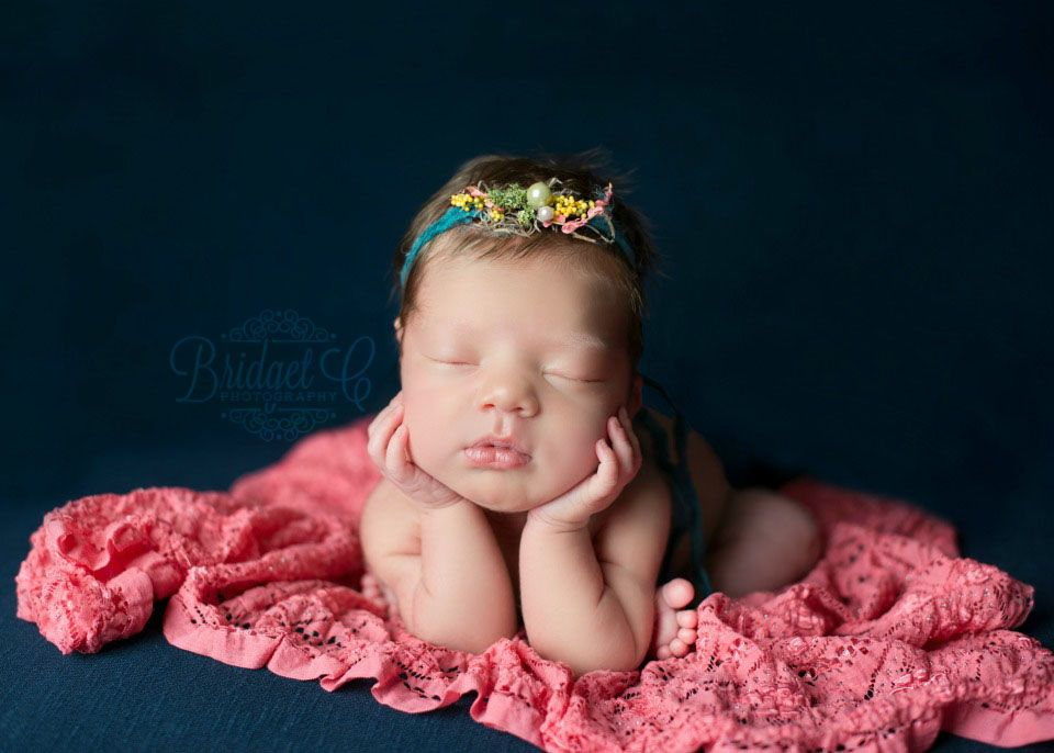 Newborn Photo Session (navy and coral)