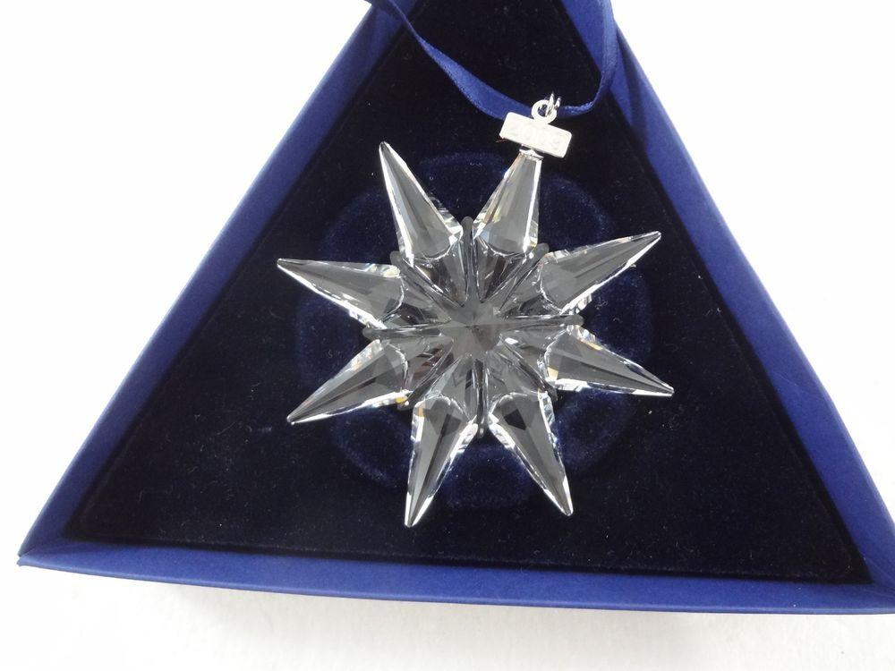 """Swarovski Annual Christmas 3"""" Snowflake Star Ornament 2009 ..."""