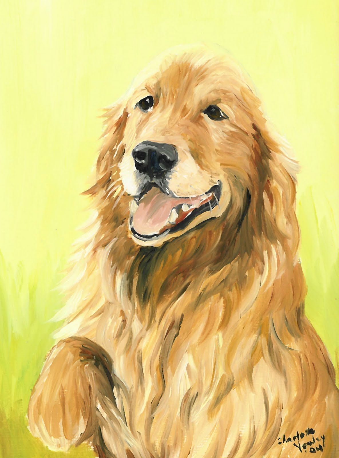 How To Paint A Golden Retriever Is A Painting I Created Of A