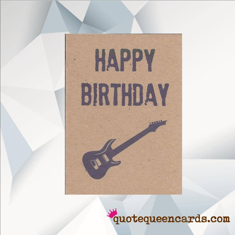 Happy Birthday Guitar Music Birthday Card Guitar Etsy Happy Birthday Guitar Birthday Cards Funny Birthday Cards