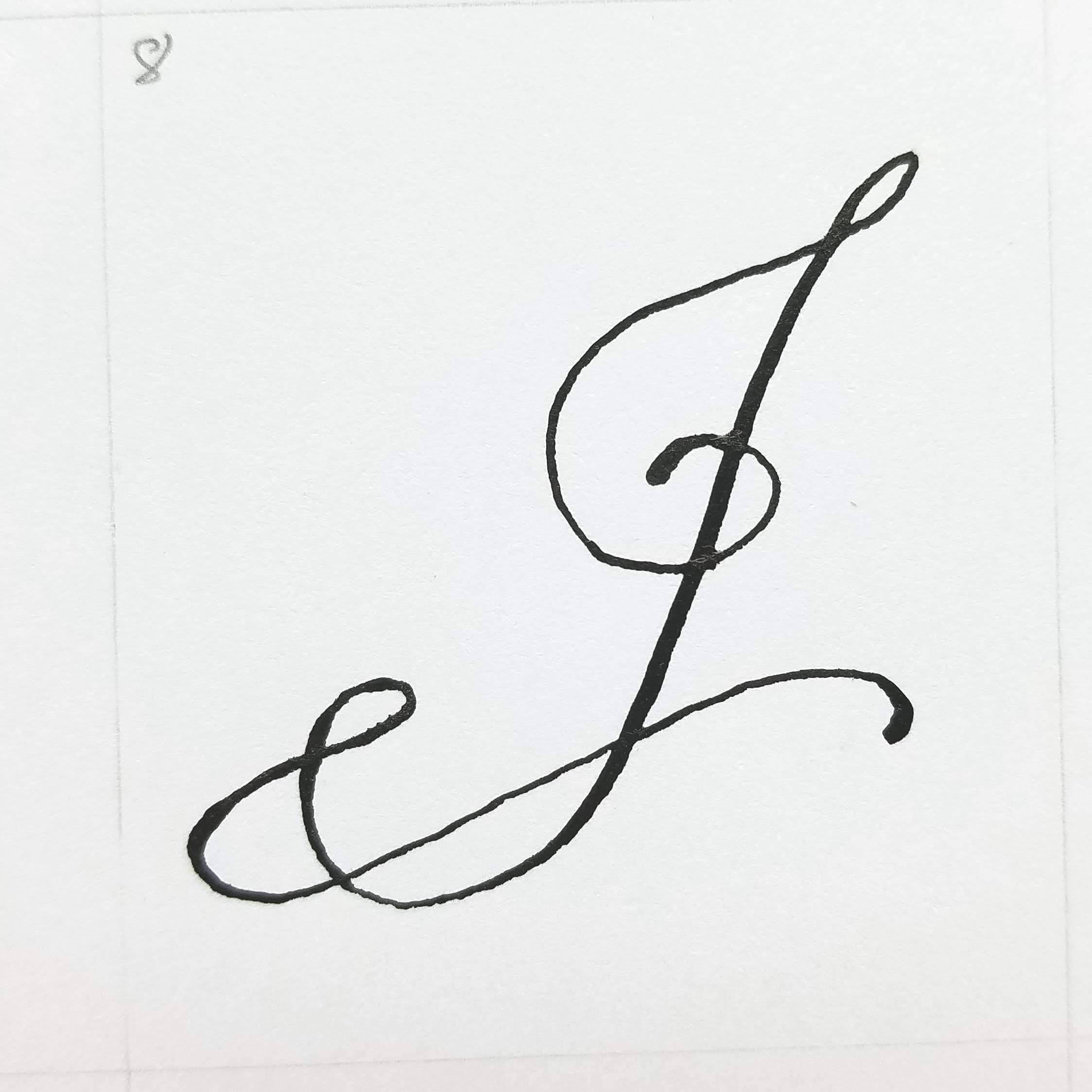 Letter J And Jellyfish With Images J Calligraphy Letter J