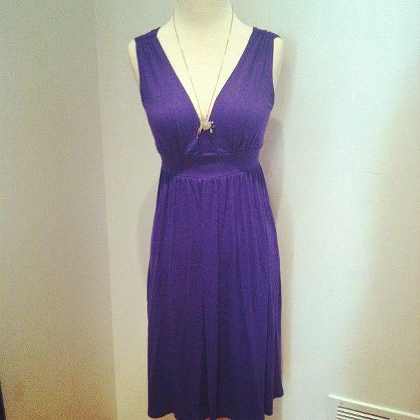 A great cut for the Oval with the empire waist & V neckline.  Empire Line Dress (Purple) $46, www.piaceboutique.com