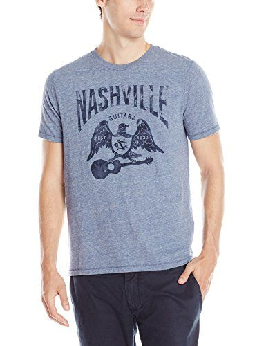 Lucky Brand Men's Nashville Eagle Graphic Tee, Blue, Large Lucky Brand http://www.amazon.com/dp/B00UBWC4II/ref=cm_sw_r_pi_dp_mrvqwb158W5YP