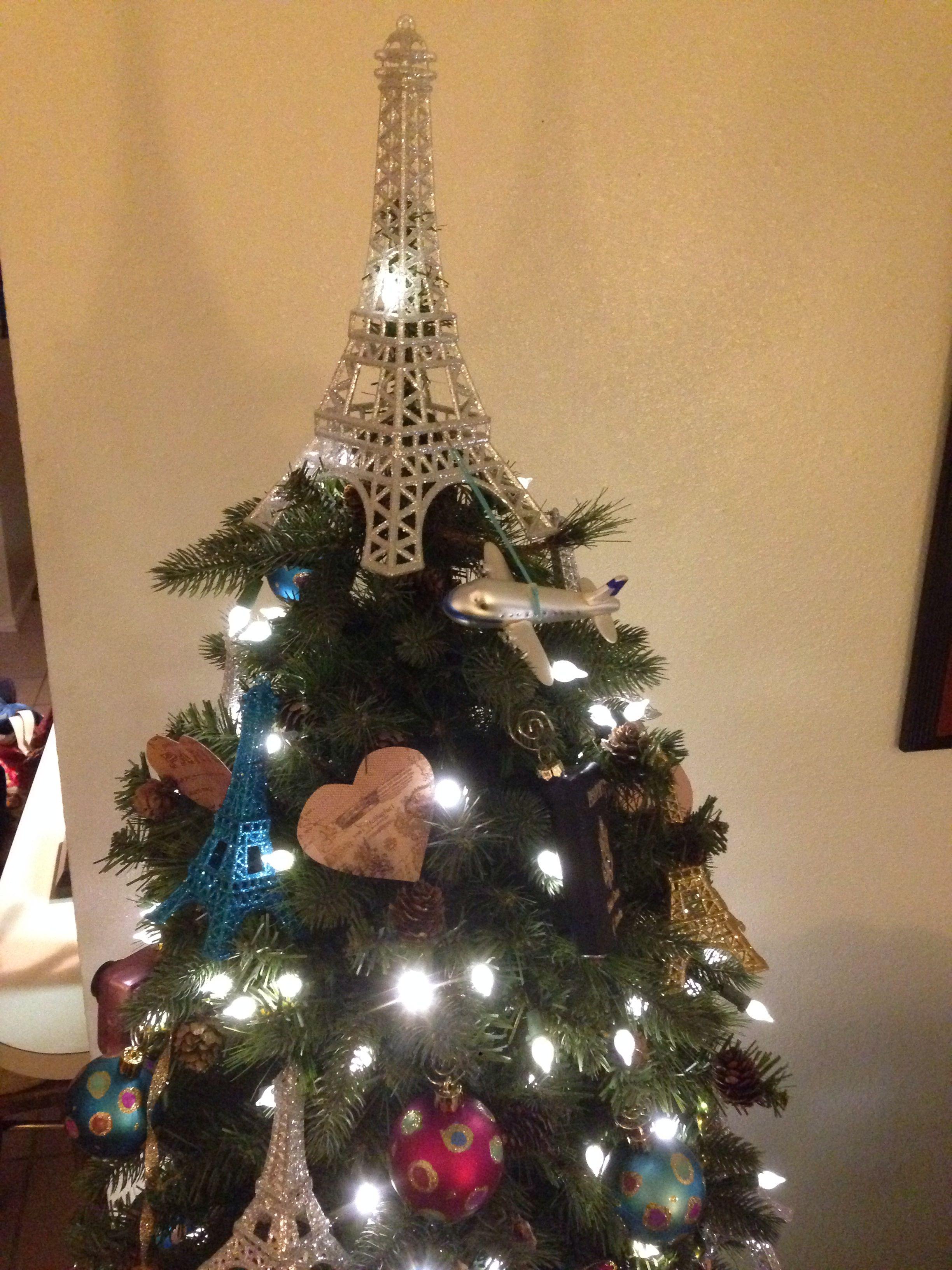Eiffel tower christmas tree ornament - Eiffel Tower Christmas Tree Topper