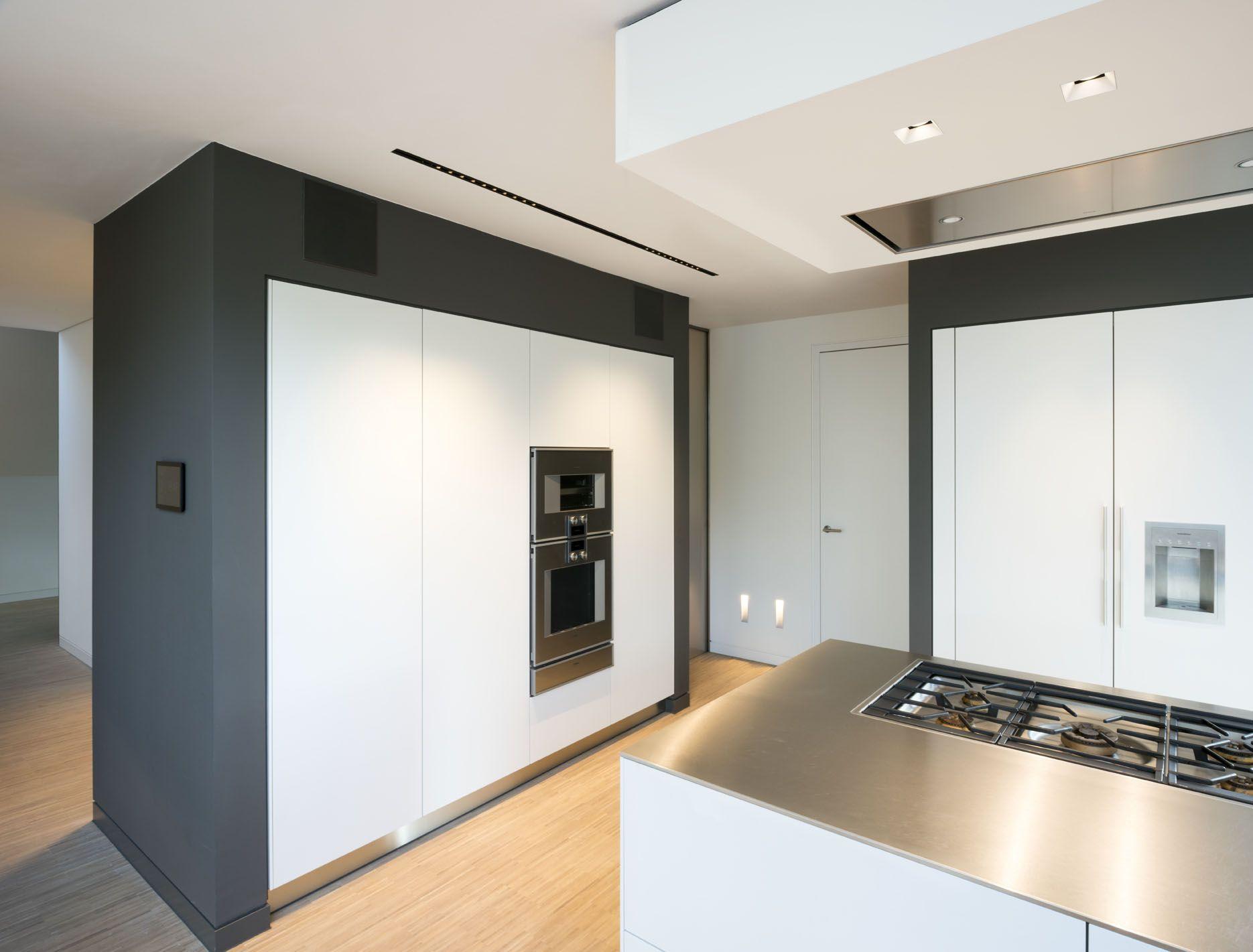 Open Kitchen Black And White Wood Inox Worksheet
