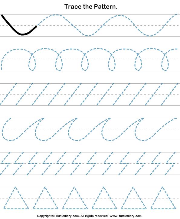 trace the pattern handwriting patterns preschool writing worksheets preschool lessons. Black Bedroom Furniture Sets. Home Design Ideas