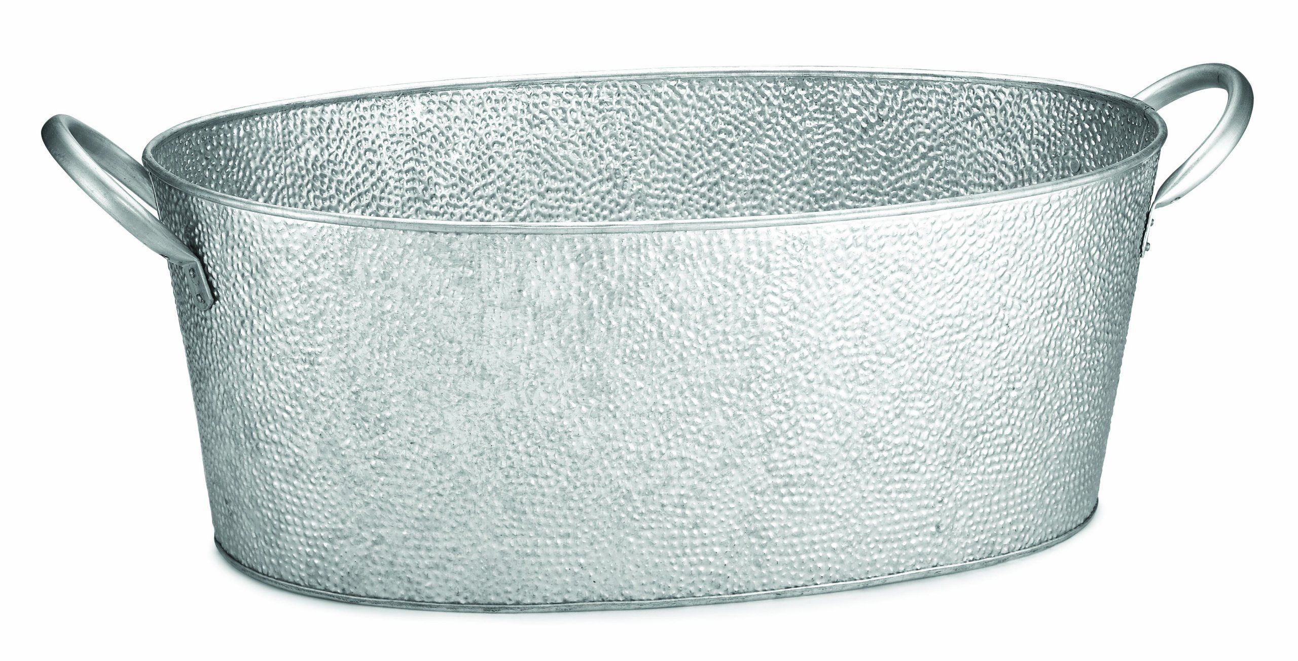 Tablecraft Gt2313 Oval Beverage Tub Galvanized Pebbled Texture 22