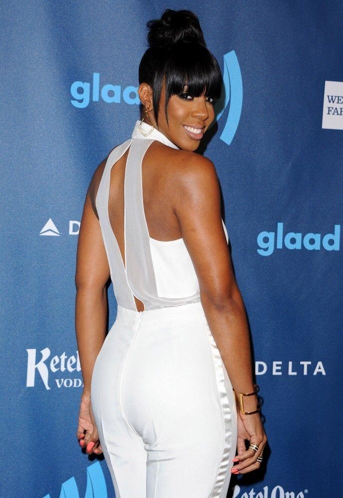 Kelly Rowland // red carpet // 24th Annual GLAAD Media Awards wearing #Izmaylova Daisy jumpsuit
