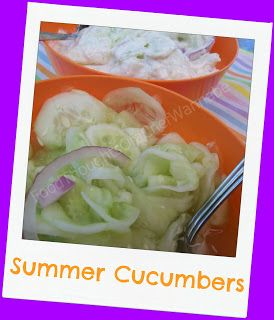 FoodThoughtsOfaChefWannabe: Summer Cucumbers