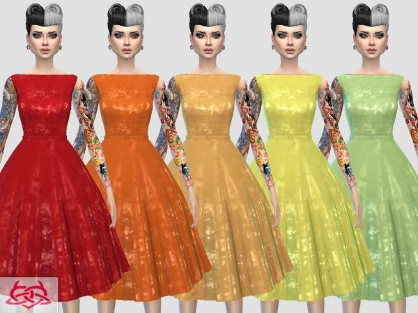 The Sims Resource: Eugenia dress recolor 1 by Colores Urbanos • Sims 4 Downloads