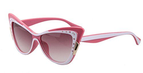 GAMT Vintage Inspired Women Rhinestone Cat Eye Sunglasses Whitepink >>> To view further for this item, visit the image link.