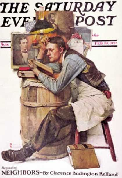 Saturday Evening Post - 1927-02-19 (Norman Rockwell)