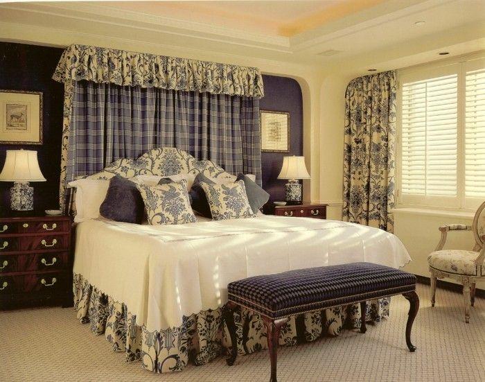 gardinen schlafzimmer frische sommerliche motive und farben - vorhnge schlafzimmer ideen