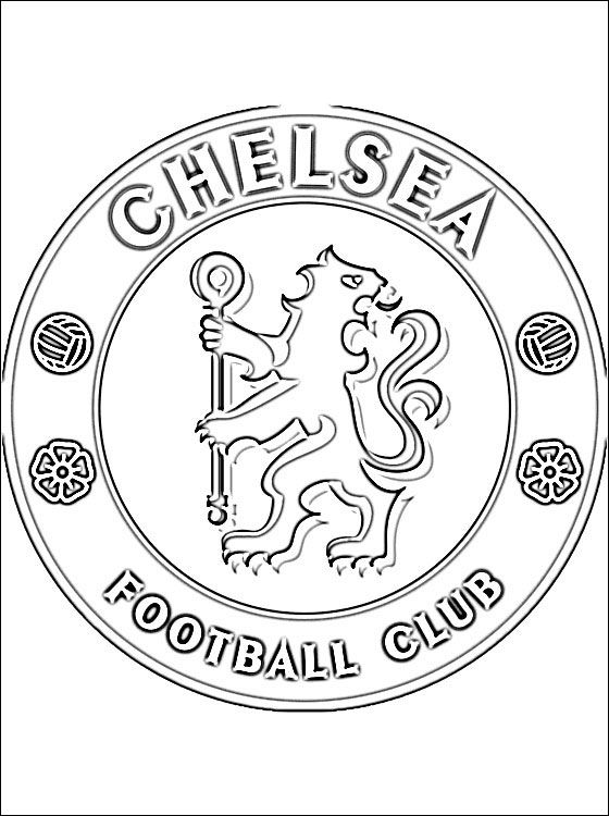 Coloring Chelsea Google Leit Football Coloring Pages Chelsea
