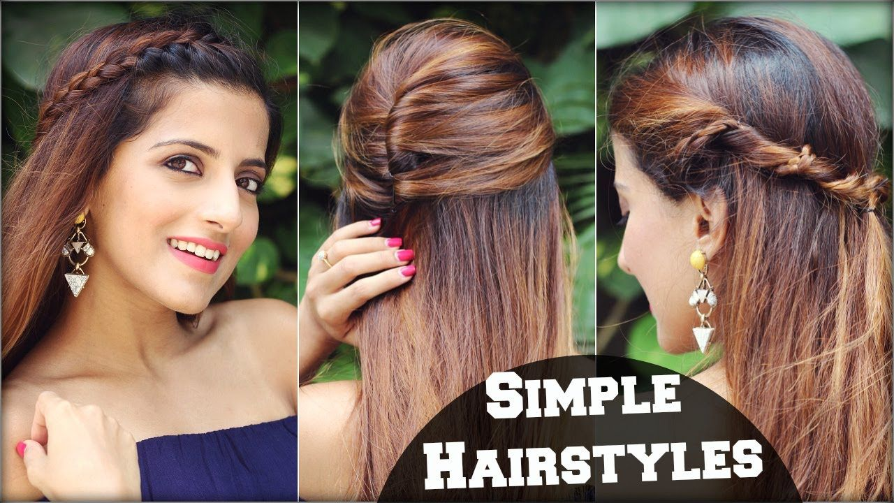 1 Min Cute Everyday Effortless Hairstyles For School College Work Sim Easy Hairstyles Easy Everyday Hairstyles Hair Styles