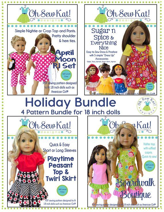 On the Boardwalk Knitting Pattern for 18 inch dolls