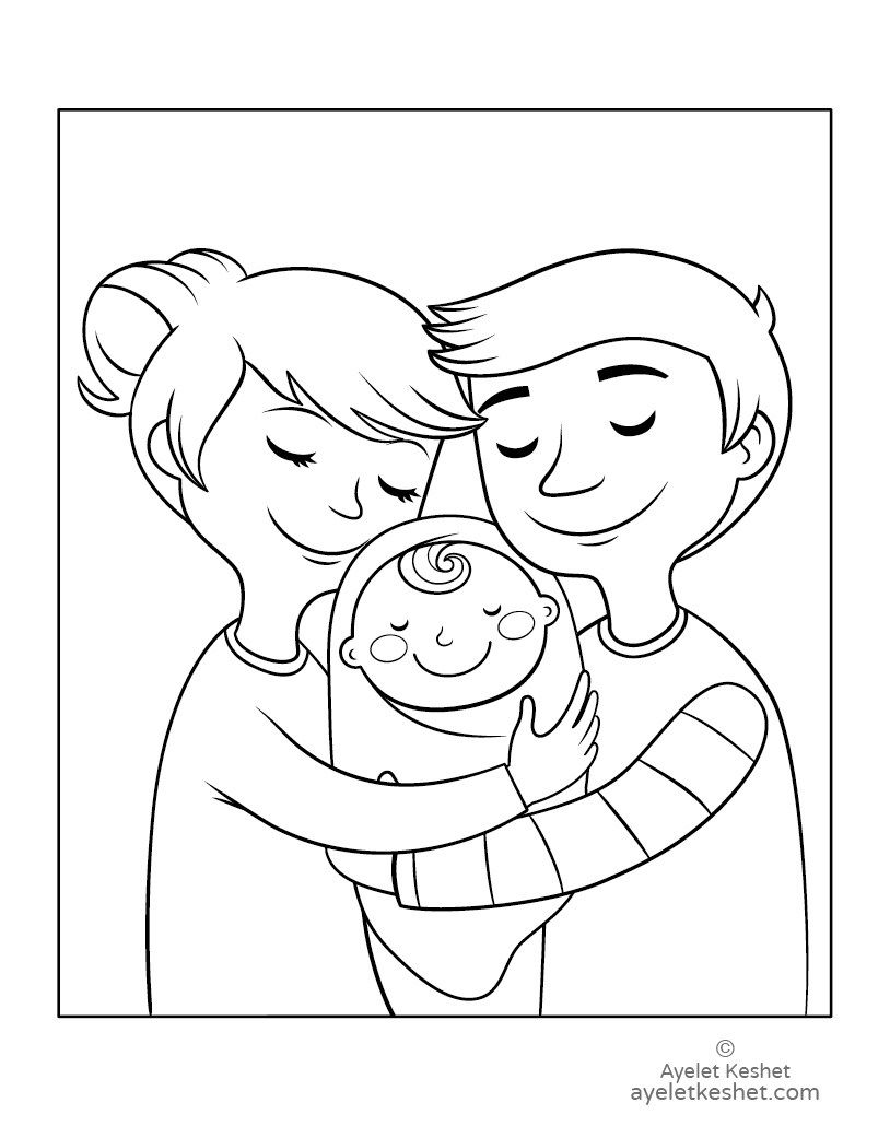 Free Coloring Pages About Family That You Can Print Out For Your