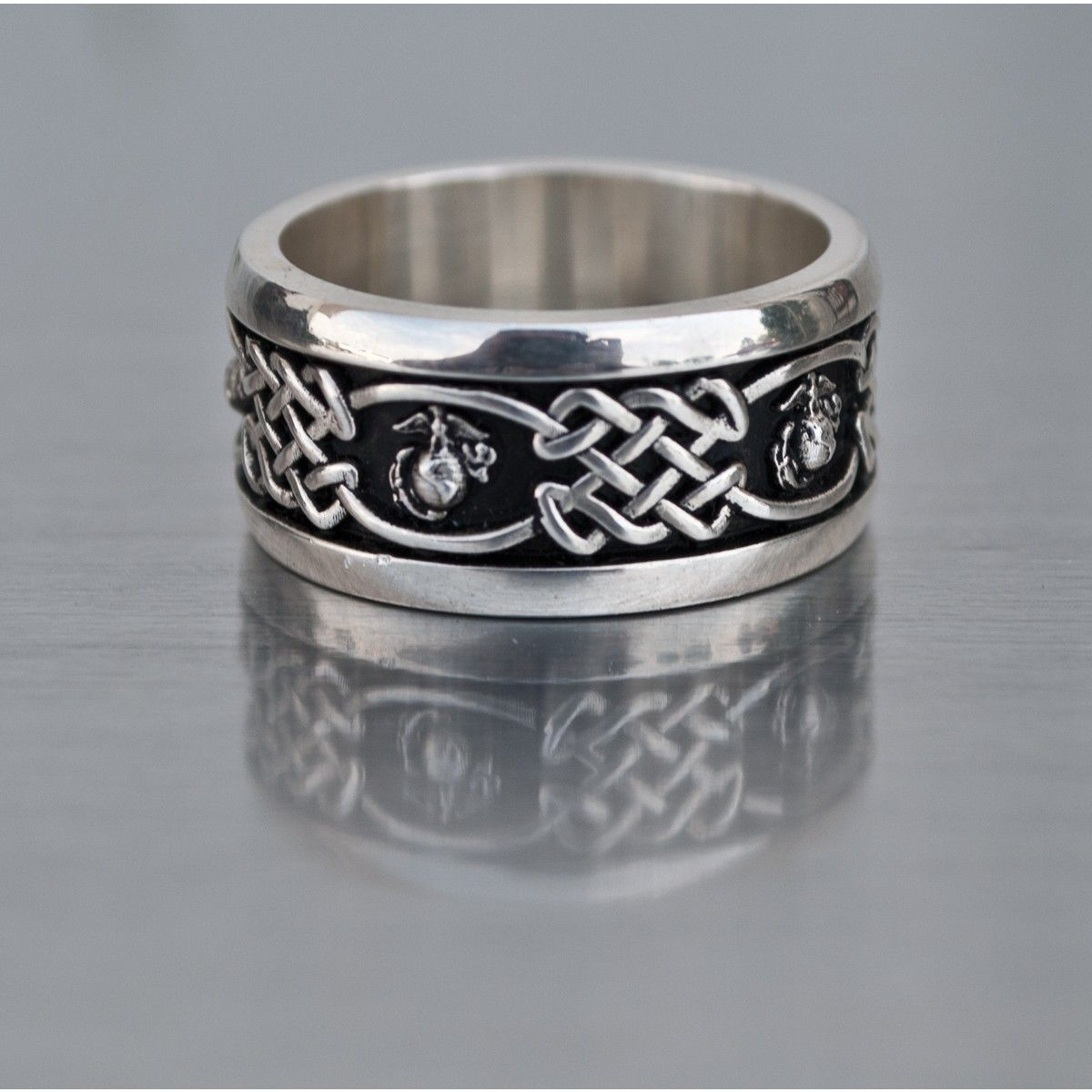 Marine Corps Solid Sterling Silver Wedding Ring Accessories Sgt Grit Marine Corps Sterling Silver Wedding Rings Silver Wedding Rings Celtic Wedding Rings