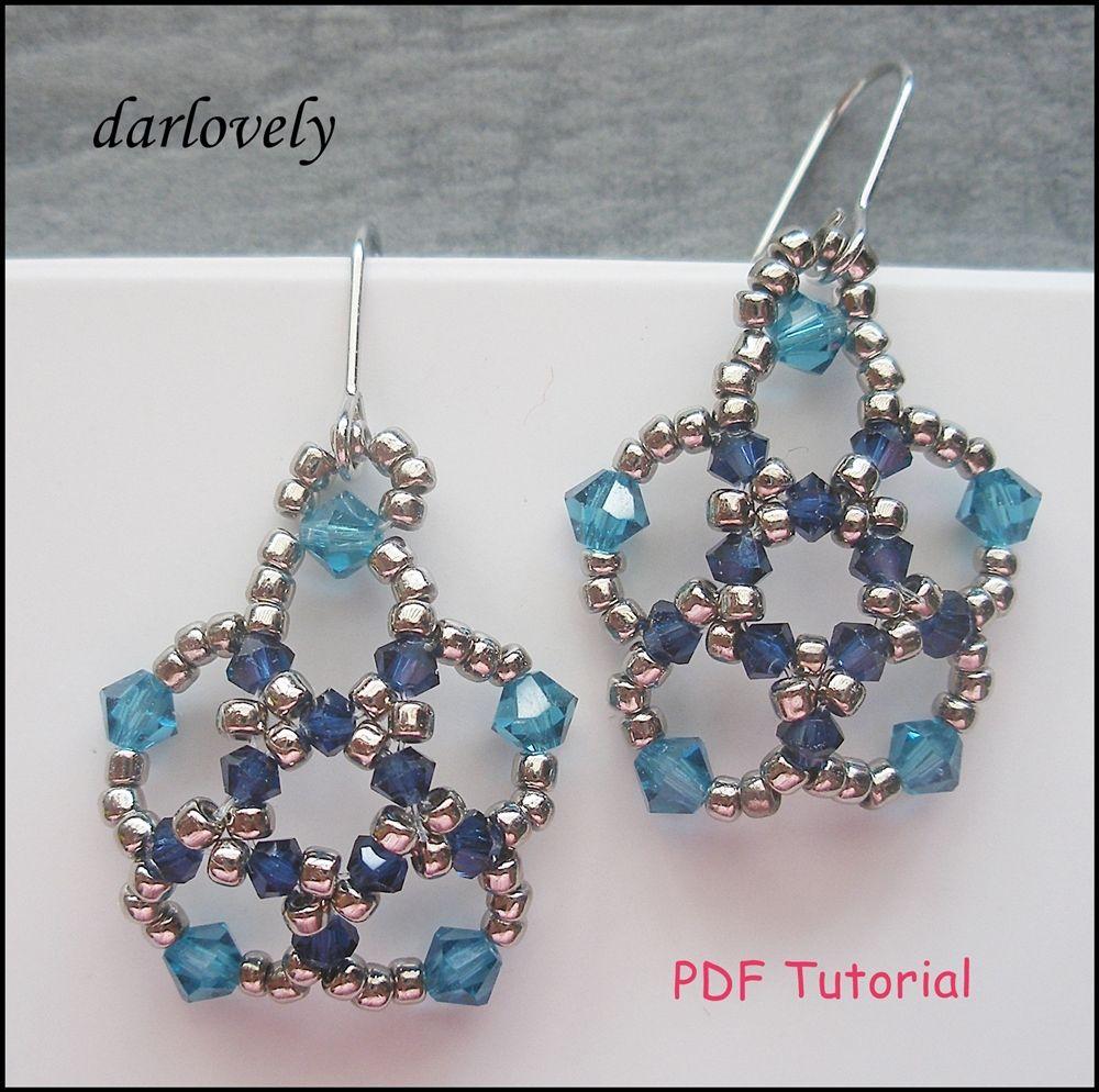 Ocean Blue Flowers Earrings
