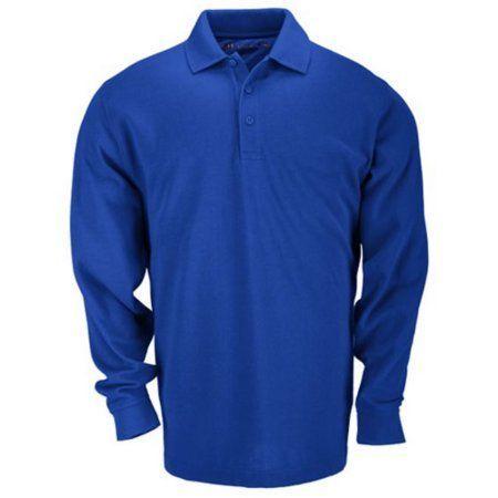 5.11 Tactical Long Sleeve Professional Polo Shirt, Academy Blue