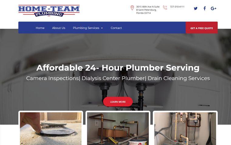 Home Team Plumbing Website Conceptual Website Redesign Website Redesign Web Design Website Redesign Website Design