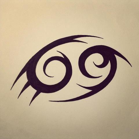 Tribal Cancer Tattoo Design Memo Cancer Tattoos Cancer Sign