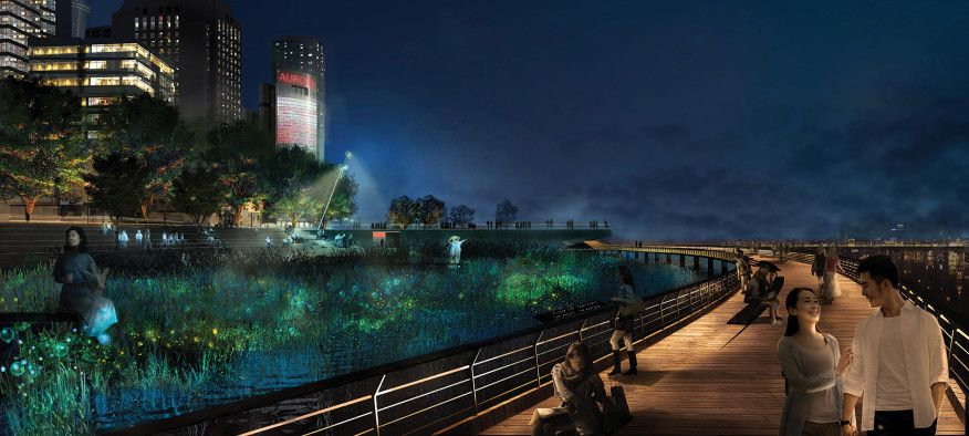 Imagining The Future Of The City At Night Landscape Architecture Night City Landscape