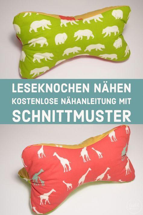 Tutorial & kostenloses Schnittmuster: Nackenkissen nähen | Pinterest ...