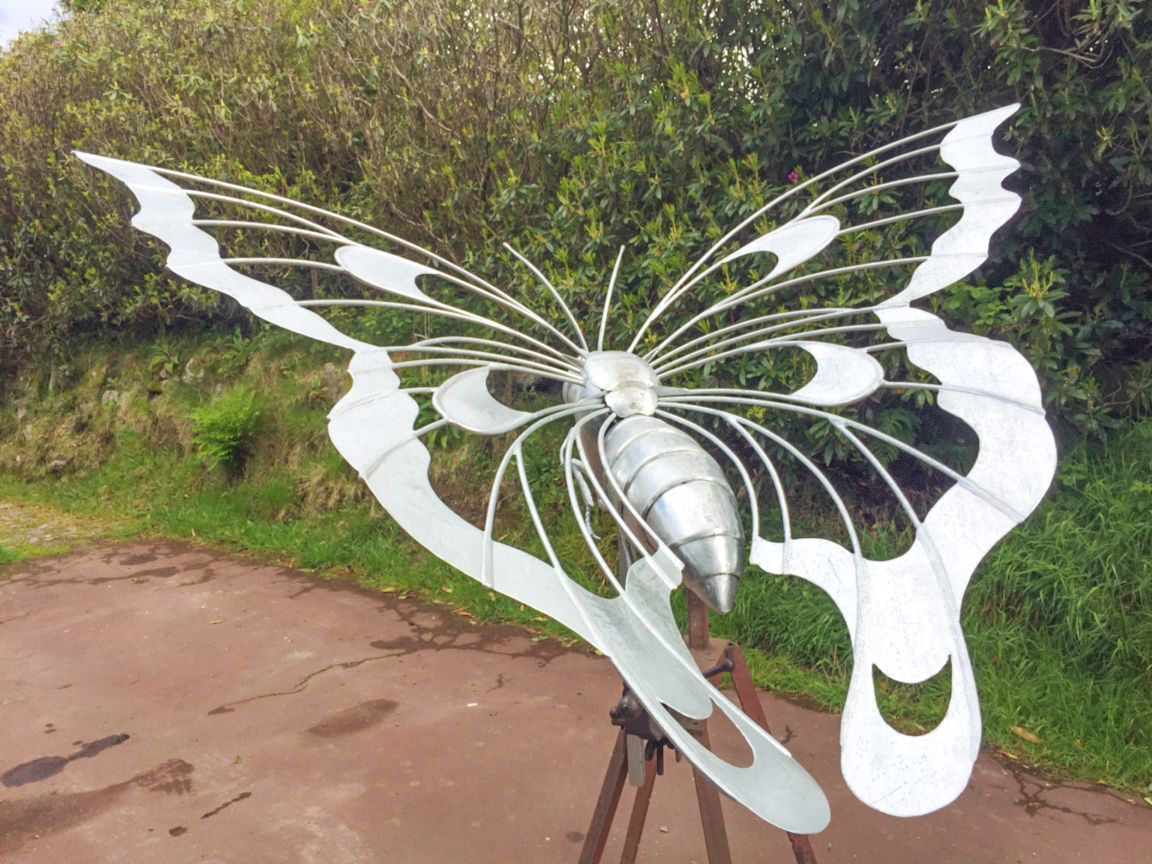 Flying Butterfly sculpture | 1.2m long | Galvanised steel finish | Commissioned for a private garden | April 2017 Thrussells