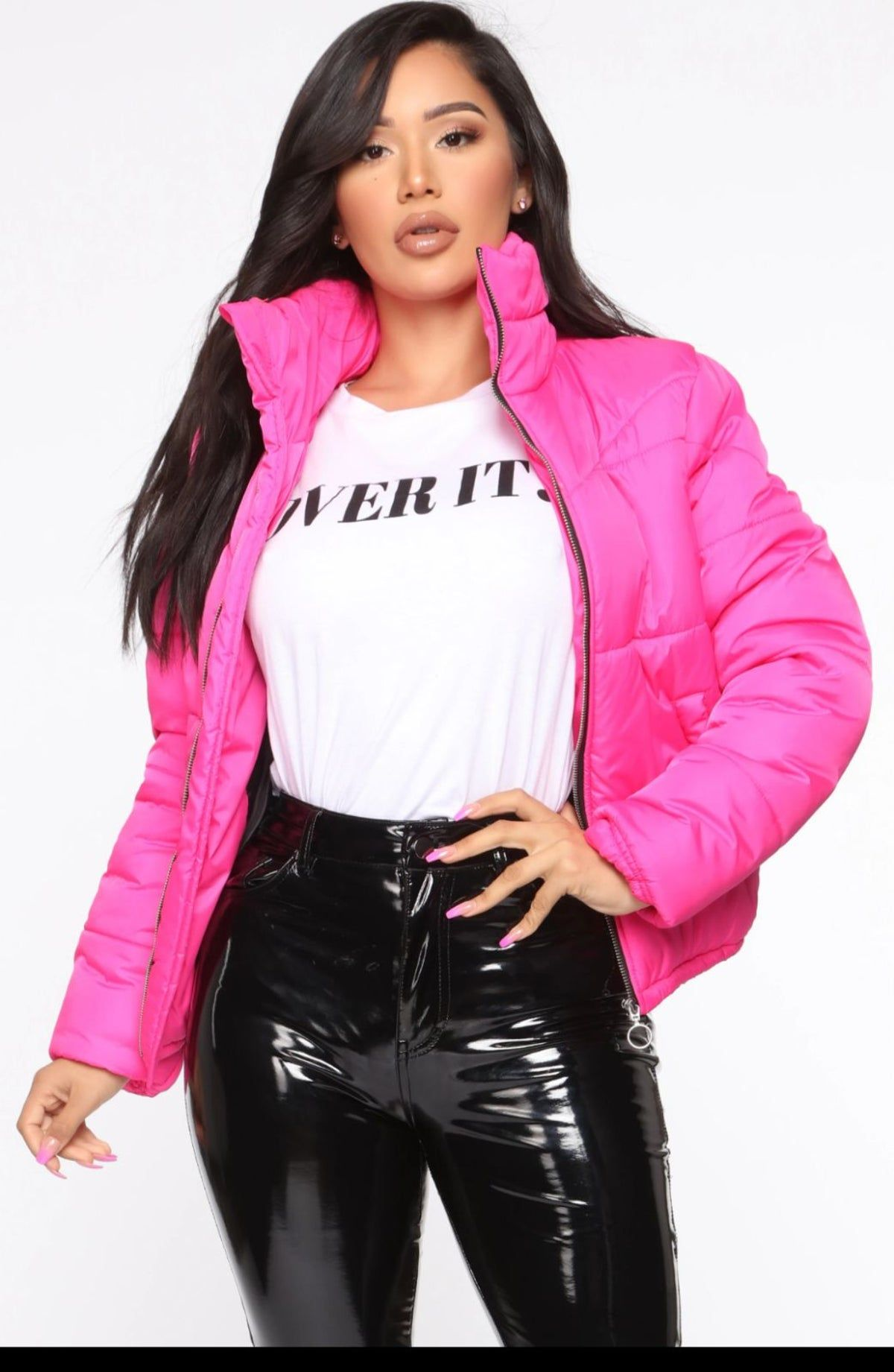 Fashion Nova Bubble Gum Pink Puffer Jack In 2021 Jacket Outfit Women Puffer Jacket Outfit Pink Puffer Jacket Outfit [ 1841 x 1200 Pixel ]